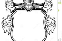 Coat Outline Clipart with Blank Shield Template Printable