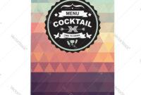 Cocktail Bar Menu Template Design inside Adobe Illustrator Menu Template