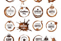 Coffee Rings Badges. Labels With Dirty Circles From Tea Or inside 1.5 Circle Label Template