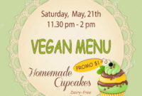 Colorful Flyer Template Vegan Bake Sale Promotion Banner throughout Bake Off Flyer Template