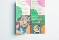 Colorful School Brochure – Tri Fold Template | Download Free inside Brochure Templates For School Project