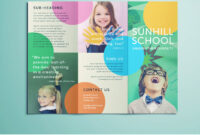 Colorful School Brochure – Tri Fold Template | Download Free intended for Brochure Templates For School Project