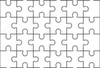 Coloring Book : Jigsaw Puzzle Blank Template Pieces Stock pertaining to Blank Jigsaw Piece Template