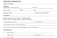 Commercial Lease Agreement Form Pdf – Fill Online, Printable for Business Lease Agreement Template