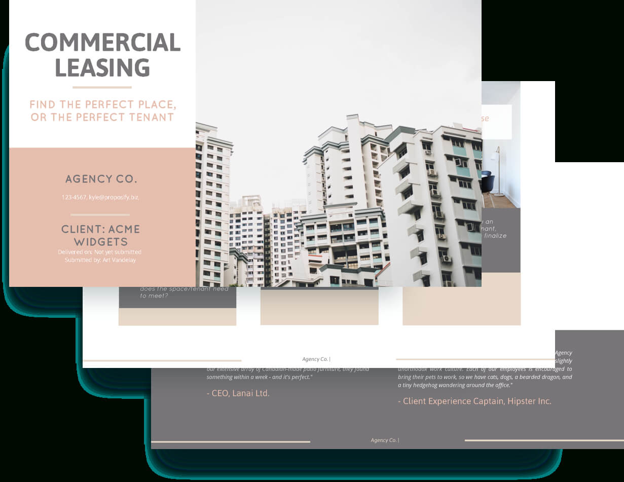 Commercial Lease Proposal Template - Free Sample | Proposify With Business Lease Proposal Template