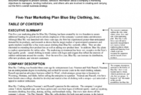 Company Description Example Profile For Event Management Pdf inside Business Plan Template For Clothing Line