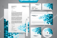 Complete Set Business Stationery Template Such Stock Vector inside Business Card Letterhead Envelope Template