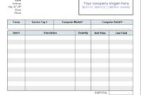 Computer Repair Invoice Template – Colona.rsd7 within Auto Repair Invoice Template Word