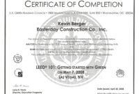 Construction Work: Construction Work Completion Form pertaining to Certificate Of Completion Construction Templates