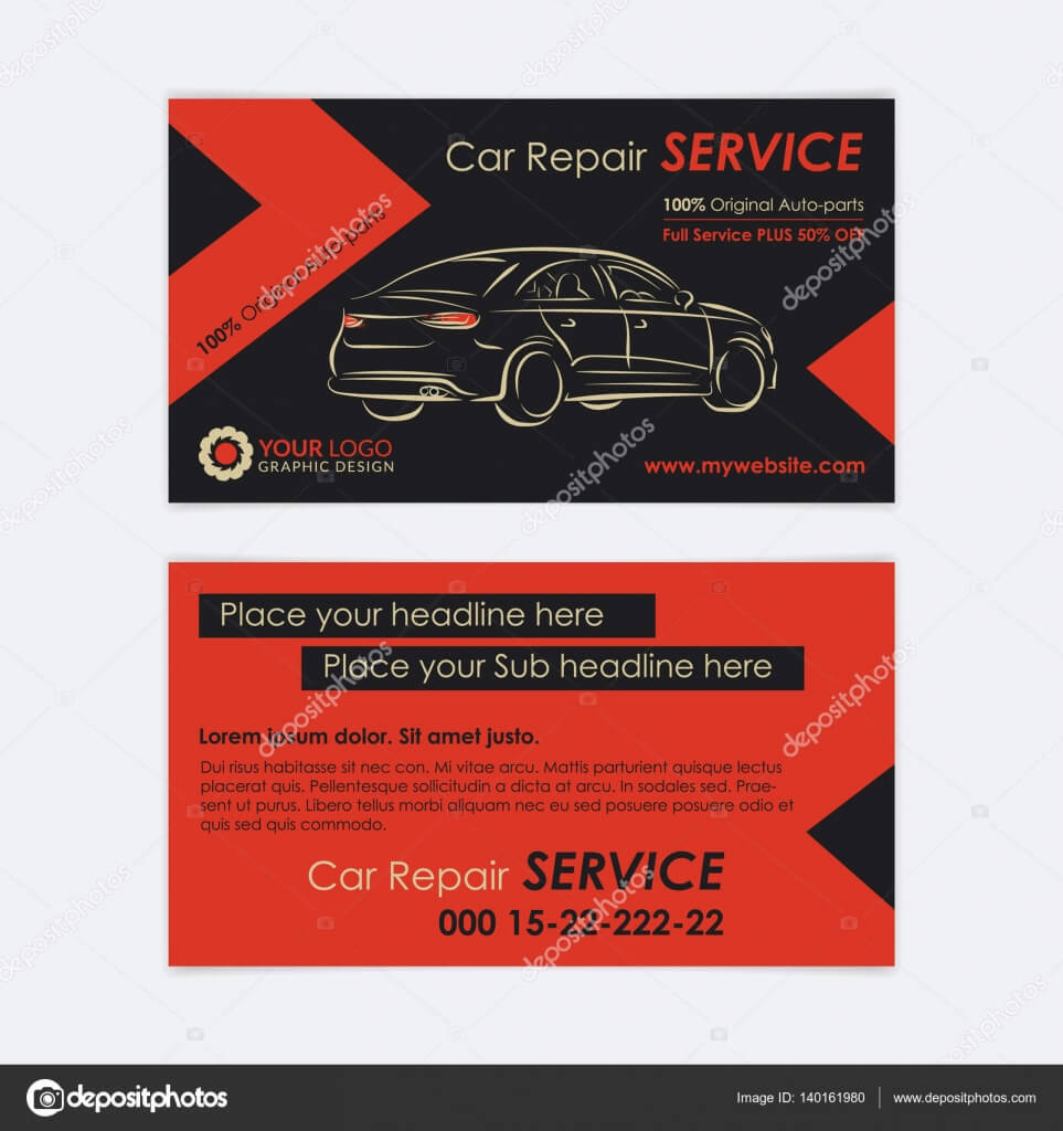 Cool Automotive Business Cards | Auto Repair Business Card In Automotive Business Card Templates