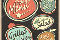 Cool Restaurant Menu Templates | Retro Restaurant Menu for 50S Diner Menu Template