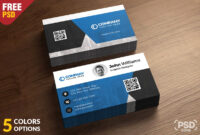 Corporate Business Card Free Psd Template – Download Psd within Calling Card Psd Template