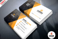 Corporate Business Card Template Psd | Psdfreebies regarding Calling Card Psd Template