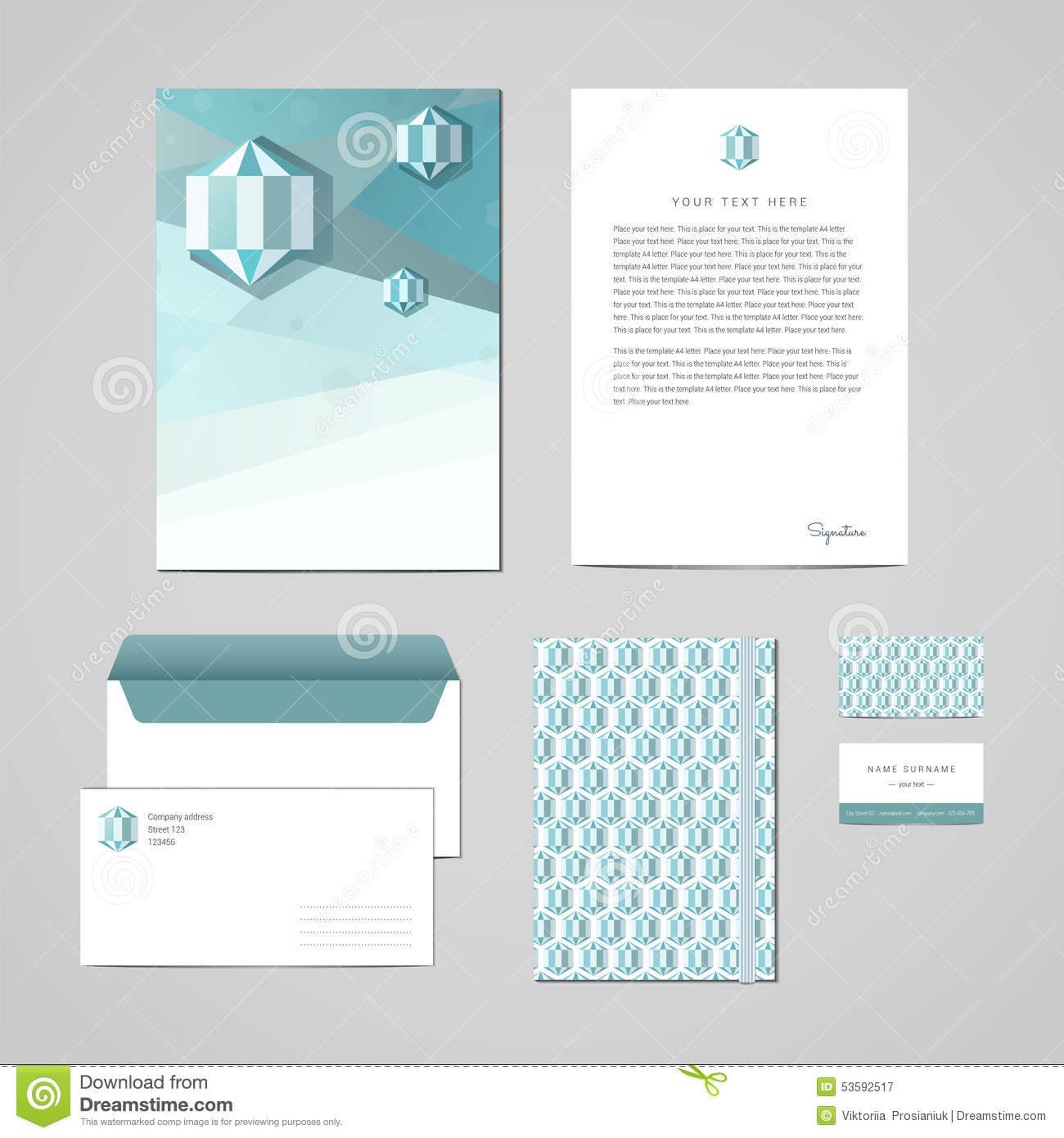 Corporate Identity Design Template. Documentation For With Regard To Business Card Letterhead Envelope Template