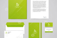 Corporate Identity Eco Design Template. Documentation For for Business Card Letterhead Envelope Template