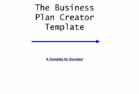 Cover Page Of A Business Plan – Colona.rsd7 for Business Plan Title Page Template