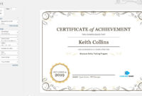 Create A Certificate Of Recognition In Microsoft Word with regard to Certificate Of Attainment Template