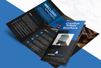 Creative Agency Trifold Brochure Free Psd Template in Brochure Psd Template 3 Fold