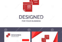 Creative Business Card And Logo Template Sticky, Files, Note within Business Card Template Open Office