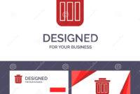 Creative Business Card And Logo Template Trash, Basket, Bin regarding Bin Card Template