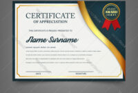Creative Certificate Appreciation Award for Academic Award Certificate Template