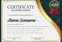Creative Certificate Of Appreciation Award Template. Certificate.. in Academic Award Certificate Template