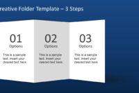 Creative Folder Template Layout For Powerpoint inside Brochure Folding Templates