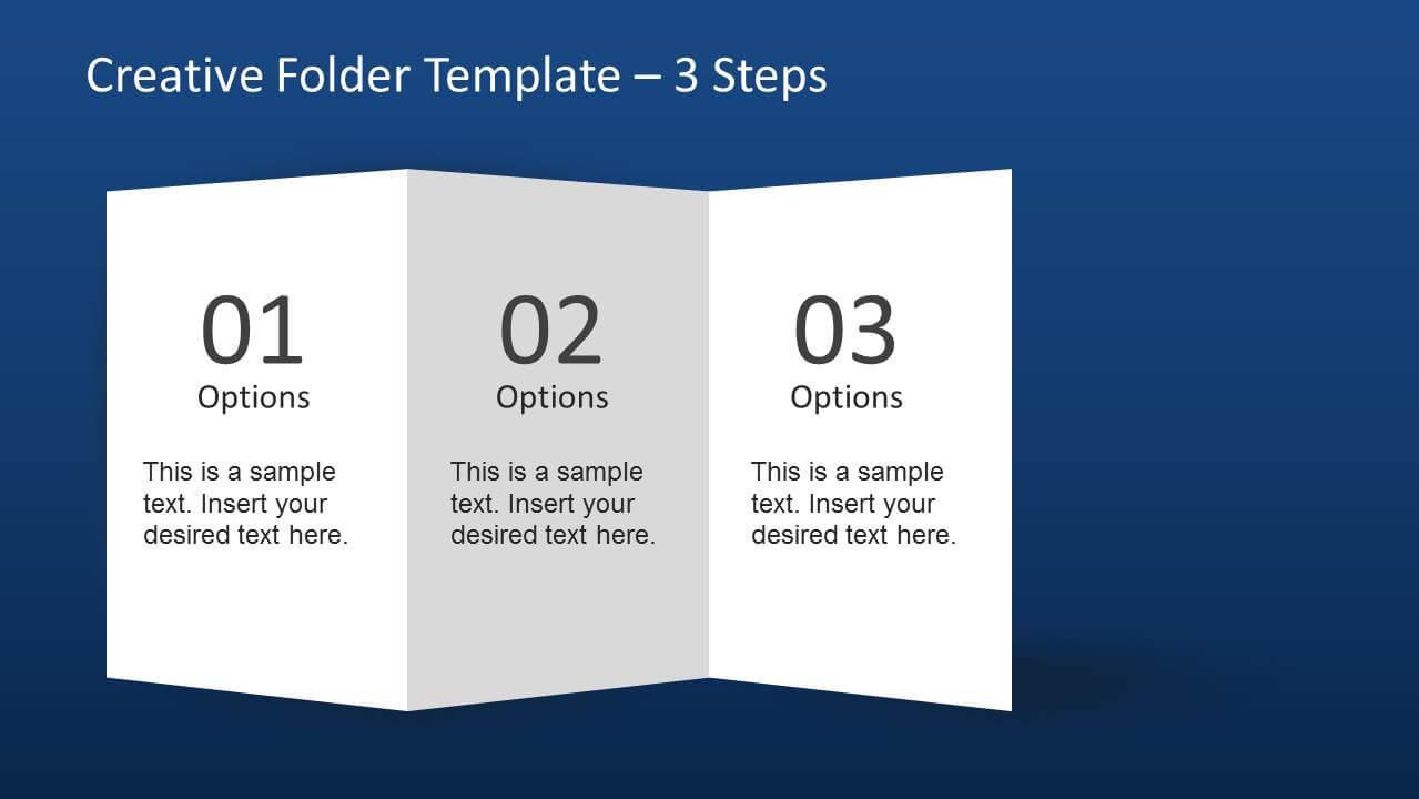 Creative Folder Template Layout For Powerpoint Regarding Brochure 4 Fold Template