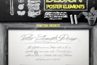 Creative Poster Template Design With Chalkboard Background inside Chalkboard Poster Template