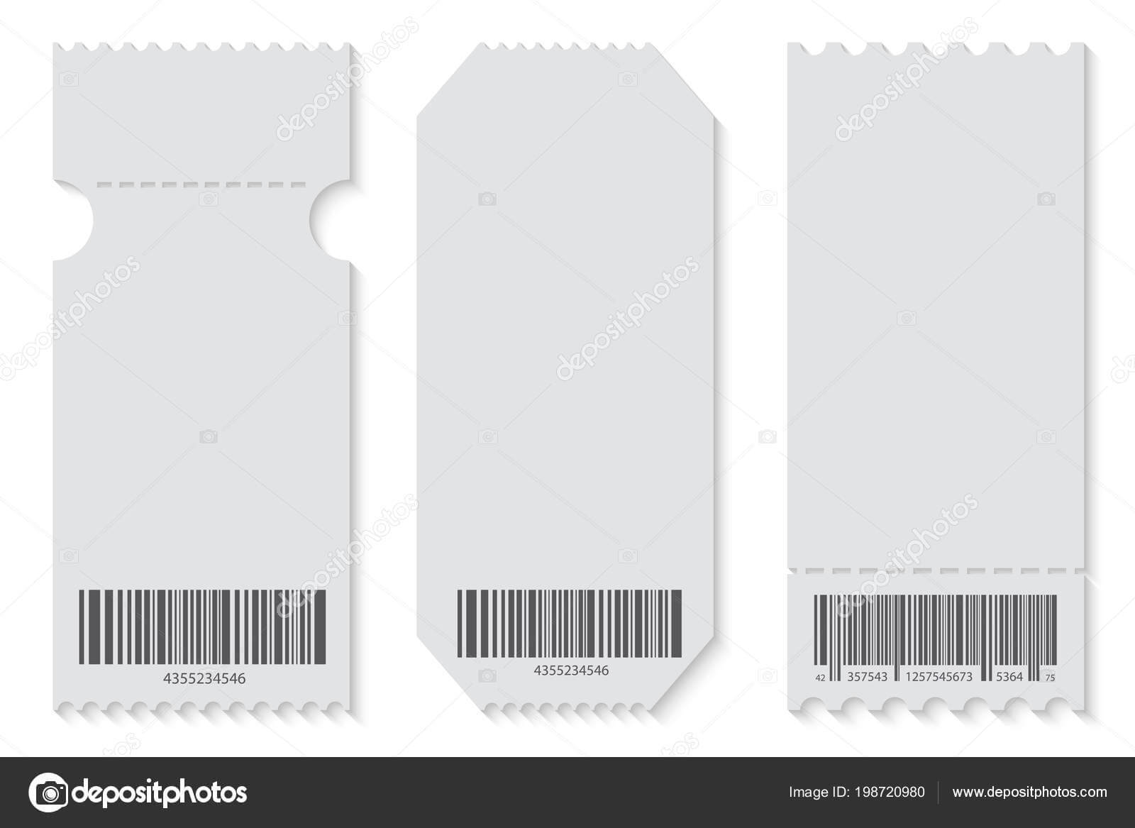 Creative Vector Illustration Of Empty Ticket Template Mockup Pertaining To Blank Train Ticket Template