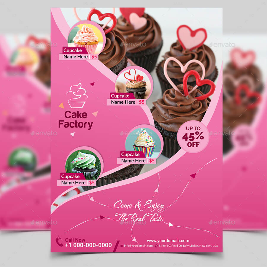 Cupcake Flyer Templates Free ] – 18 Bakery Flyer Templates Pertaining To Cake Flyer Template Free