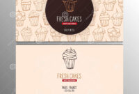 Cupcake Or Cake Business Card Template For Bakery Or Pastry inside Cake Business Cards Templates Free
