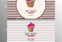 Cupcake Or Cake Business Card Template For Bakery Or Pastry intended for Cake Business Cards Templates Free