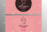 Cupcake Or Cake Business Card Template For Bakery Or Pastry with Cake Business Cards Templates Free