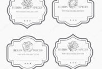 Customizable Black White Pantry Label Collection Vintage pertaining to Black And White Label Templates