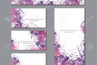 Cute Templates With Abstract Graphics.for Romance And Design,.. inside Advertising Cards Templates