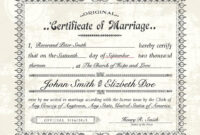 D452A6C Fake Marriage License Template | Wiring Resources for Certificate Of Marriage Template