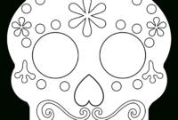 Day Of The Dead Masks Sugar Skulls Free Printable – Paper regarding Blank Sugar Skull Template