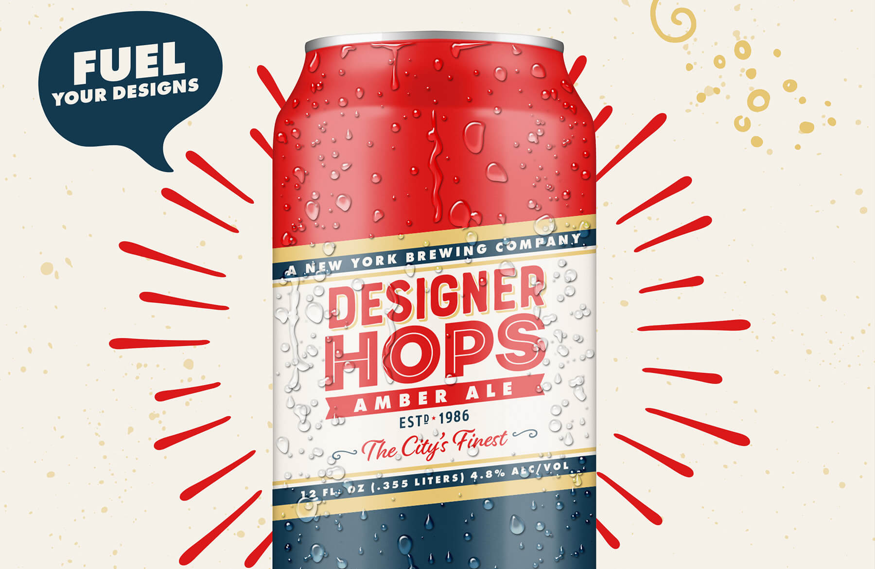Design A Beer Can Label And Poster With Illustrator And Intended For Adobe Illustrator Label Template