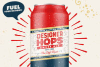 Design A Beer Can Label And Poster With Illustrator And with regard to Beer Label Template Psd