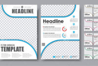 Design Color Flyers A4. Template 2 Page Brochure With Space For.. within 2 Page Flyer Template