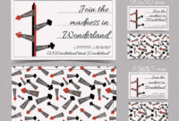 Direction Arrows From Wonderland. Cards Templates. Stock with regard to Alice In Wonderland Card Soldiers Template