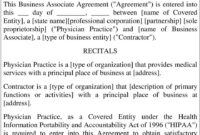 Disclaimer: Template Business Associate Agreement (45 C.f.r within Business Associate Agreement Hipaa Template