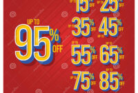 Discount Label Up To 15,25,35,45,55,65,75,85,95 Set Off in 65 Label Template