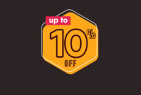 Discount Up To 10 Off Label Template Design intended for 10 Up Label Template