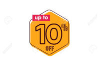 Discount Up To 10% Off Label Vector Template Design Illustration inside 10 Up Label Template