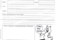 Do Book Reports 1St Grade – Assigning A Book Report In 1St intended for 1St Grade Book Report Template