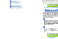Document Content Of Business Objectives, The Strategies within Business In A Box Templates