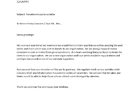 Donation Acceptance Letter | Templates At in Business Donation Letter Template