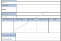 Download Certificate Of Liability Insurance Form Template within Certificate Of Liability Insurance Template